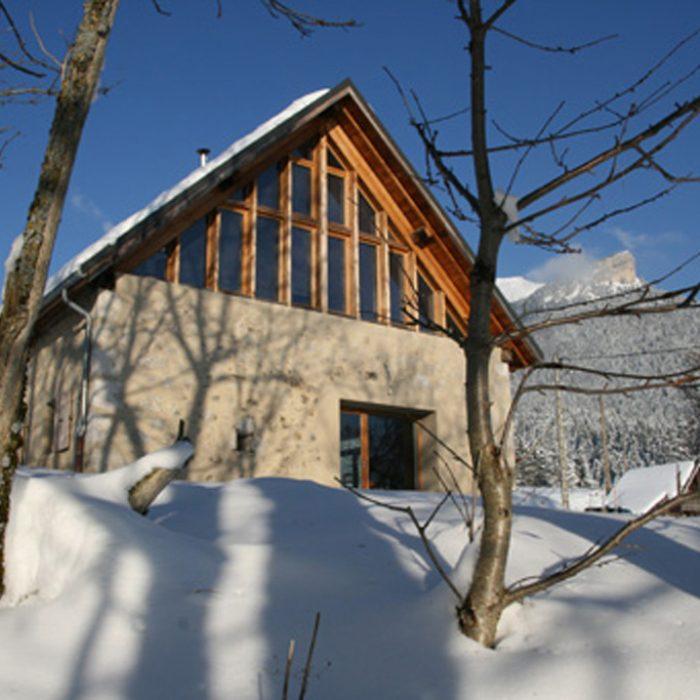 La facade sud hiver