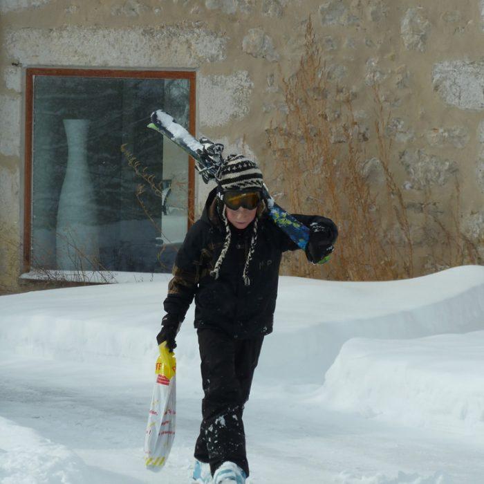 En rentrant du ski